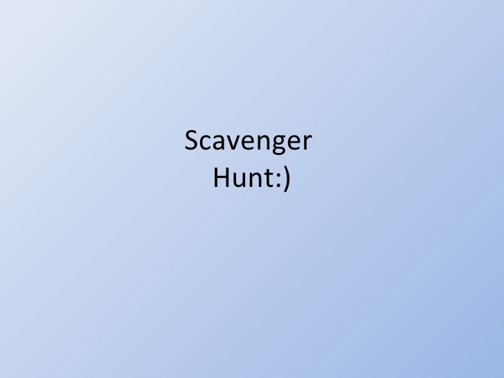 Scavenger  Hunt:)