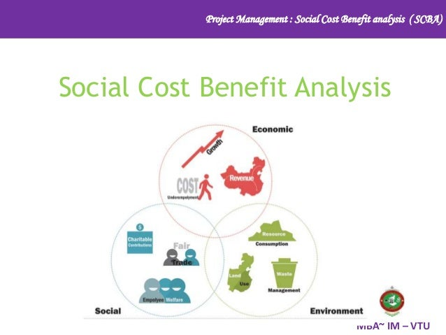 Project Management : Social Cost Benefit analysis ( SCBA) MBA~ IM – VTU Social Cost Benefit Analysis
