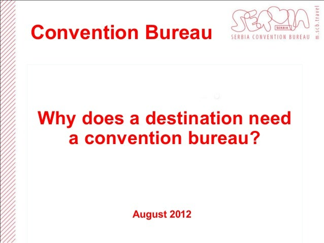 Why does a destination need a CVB?