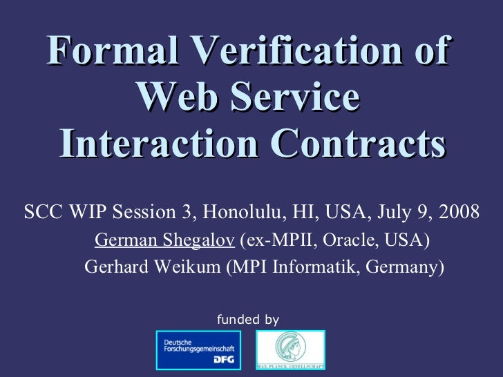 Formal Verification of Web Service Interaction Contracts