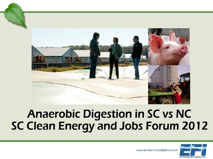 Anaerobic Digestion in SC vs NC