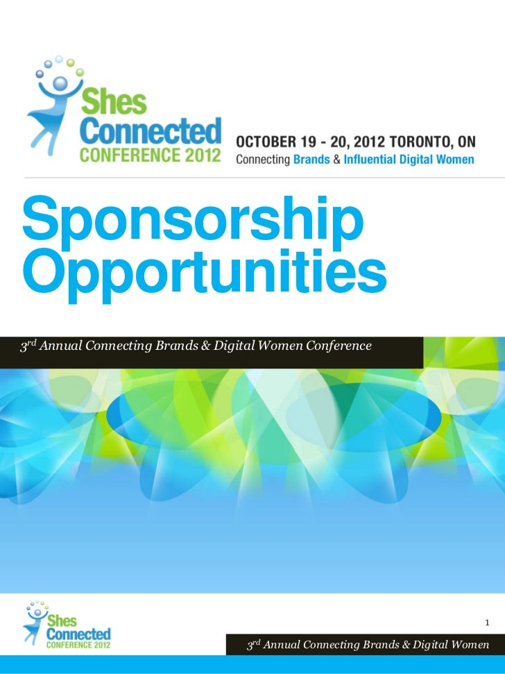 SponsorshipOpportunities3rd Annual Connecting Brands & Digital Women Conference                                           ...
