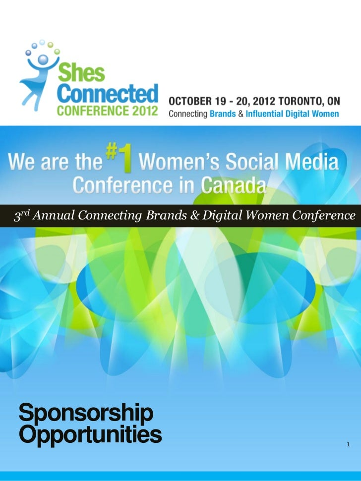 3rd Annual ShesConnected Conference Sponsorship Details- Connecting Bloggers and Brands