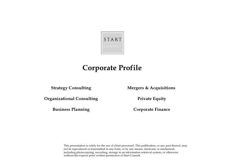 Sc corporate profile