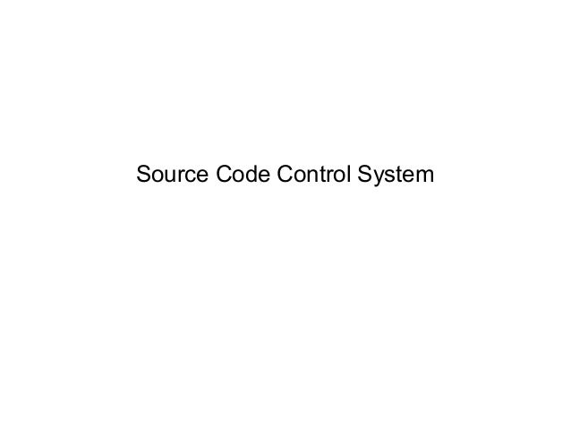 Source Code Control System