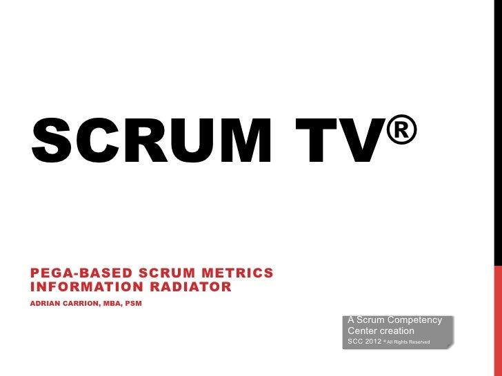 SCRUM                      TV®PEGA-BASED SCRUM METRICSINFORMATION RADIATORADRIAN CARRION, MBA, PSM                        ...