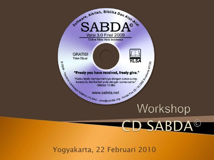 Workshop CD SABDA