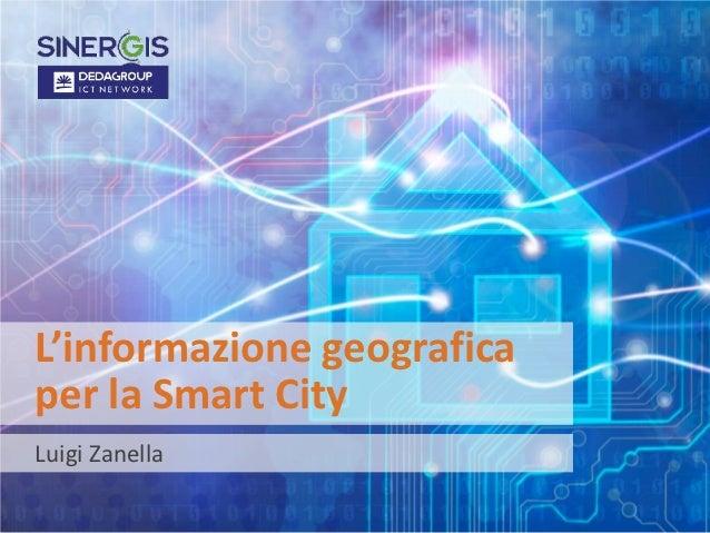 L'informazione geografica per le Smart City