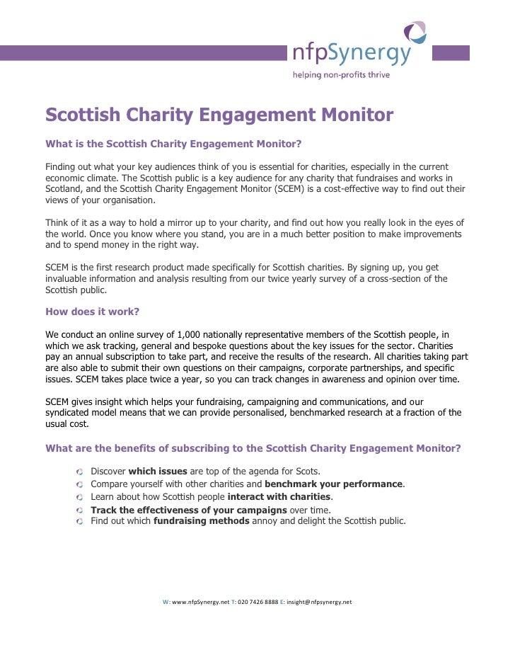 Scottish Charity Engagement Monitor