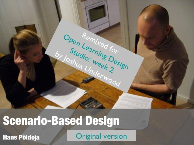 Scenario based contextual learning design