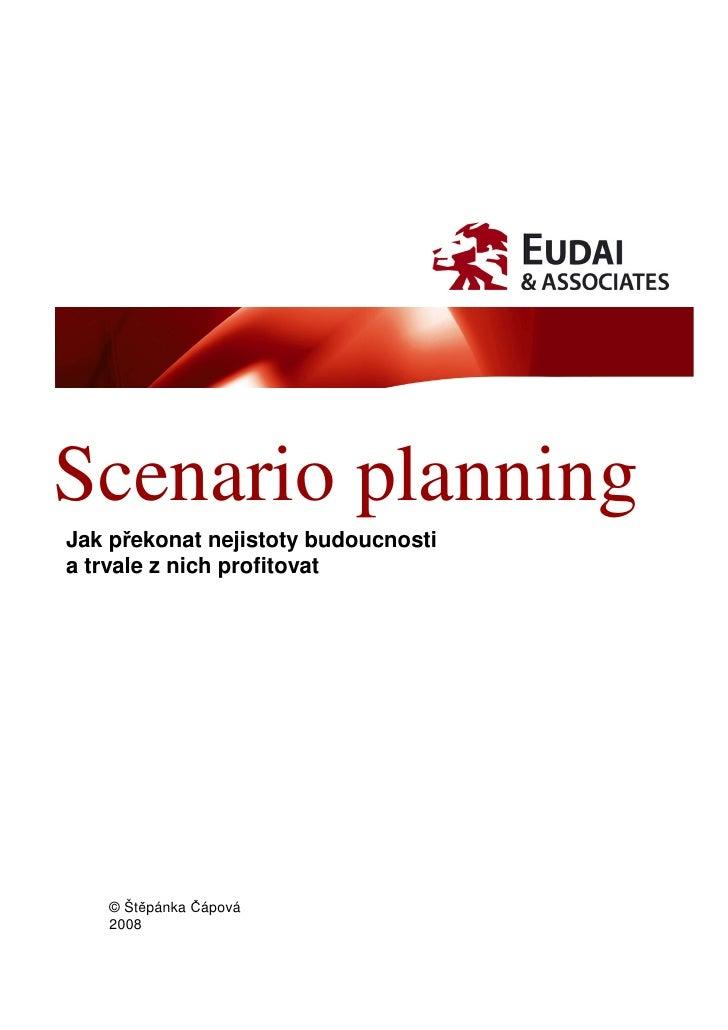 Scenario planning Jak překonat nejistoty budoucnosti a trvale z nich profitovat        © Štěpánka Čápová    2008