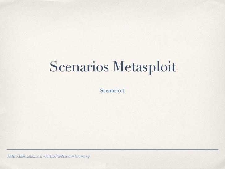 Scenarios Metasploit                                                      Scenario 1Http:://labs.zataz.com - Http://twitte...