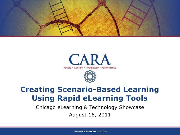 Scenario based learning using rapid tools with screen shots