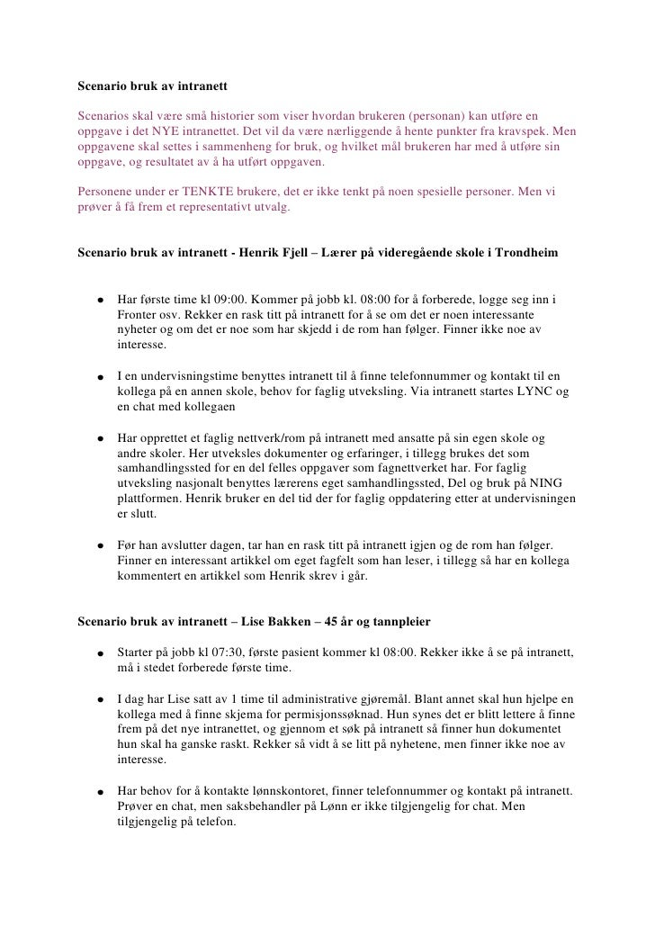 Scenario bruk av intranett v1.2