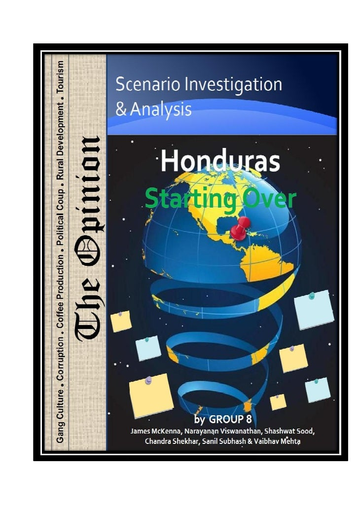 Scenario Planning to Achieve UNDP's MDG for Honduras