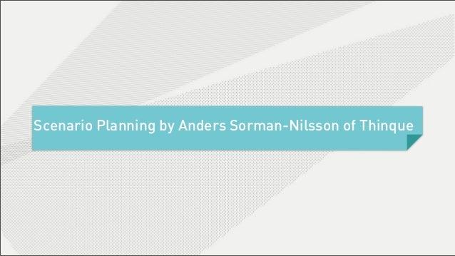 Scenario Planning 2020