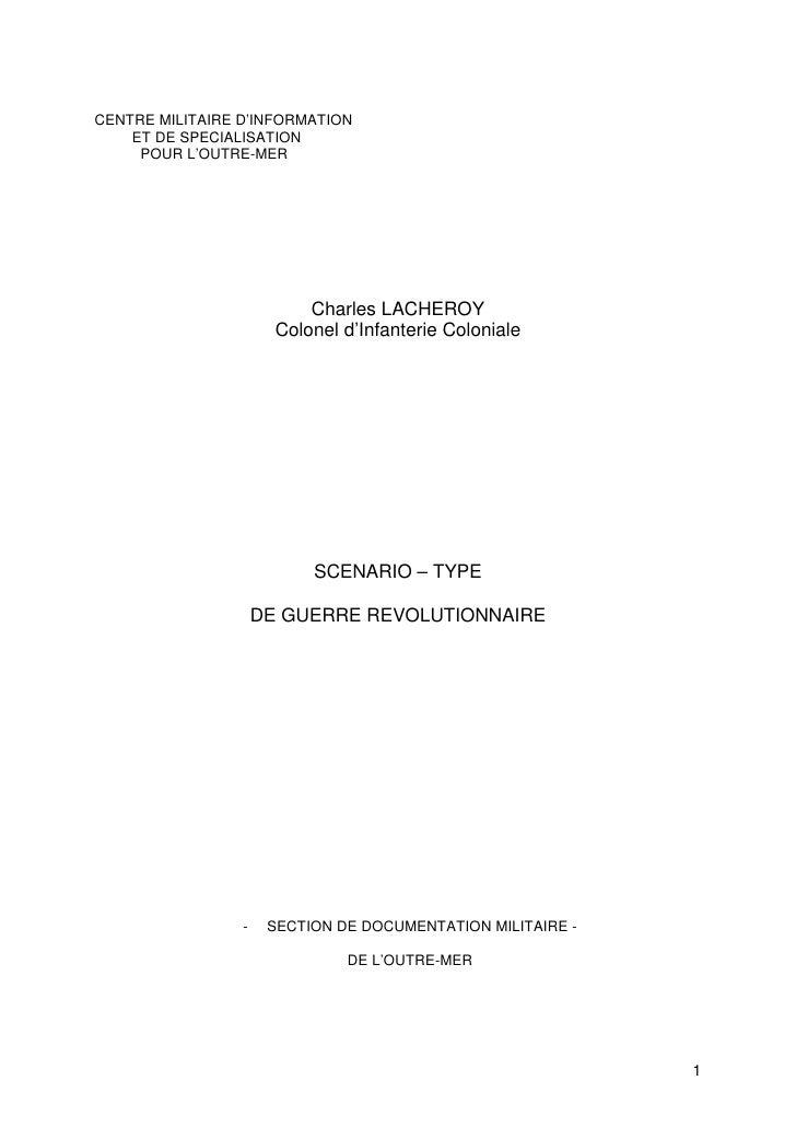 CENTRE MILITAIRE D'INFORMATION    ET DE SPECIALISATION     POUR L'OUTRE-MER                           Charles LACHEROY    ...