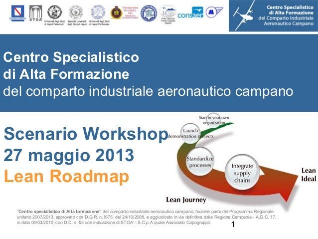 Scenario workshop 27 maggio