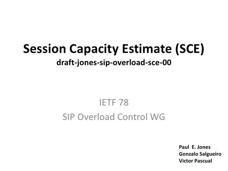 IETF 78 - SOC - SCE