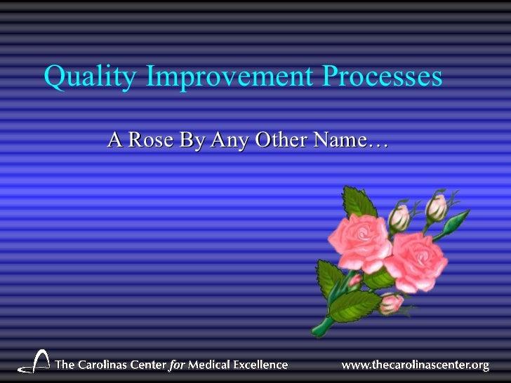 Sceqr quality improvementprocesses