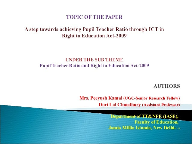 A step towards achieving Pupil-Teacher Ratio through ICT