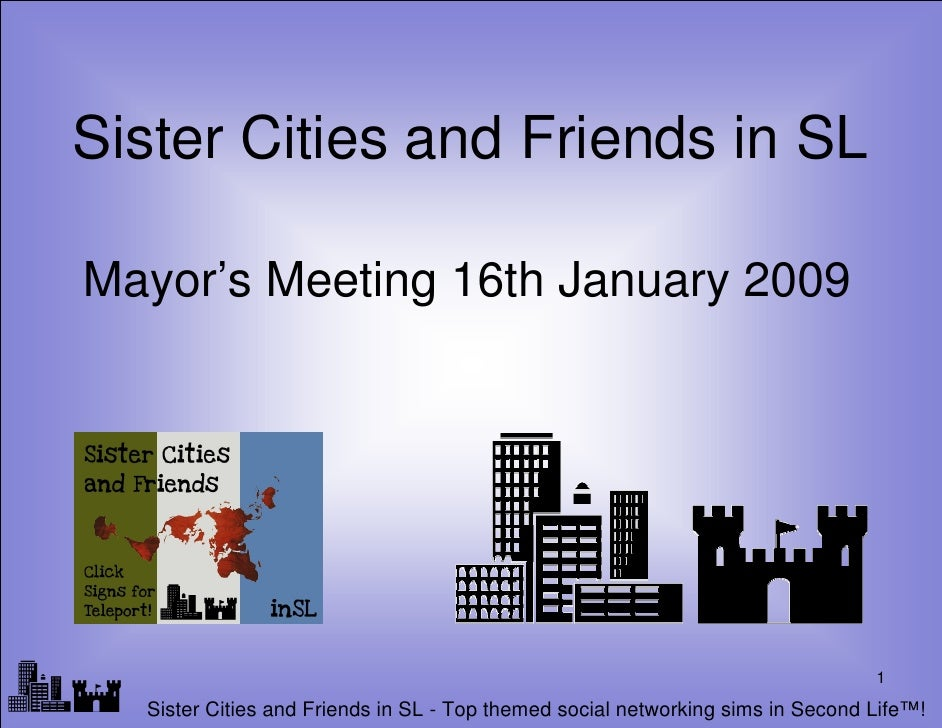Sister Cities and Friends in SL   Mayor's Meeting 16th January 2009     lf                                                ...