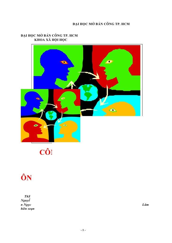 ĐẠI HỌC MỞ BÁN CÔNG TP. HCM   ĐẠI HỌC MỞ BÁN CÔNG TP. HCM       KHOA XÃ HỘI HỌC                                   C       ...