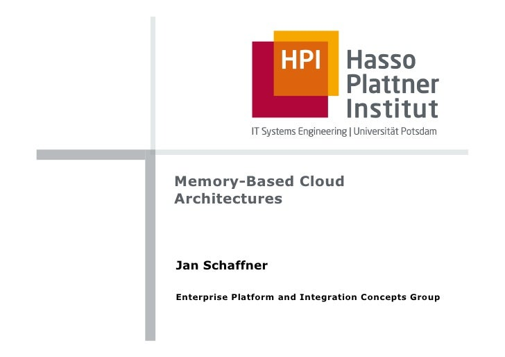 Memory-Based Cloud Architectures