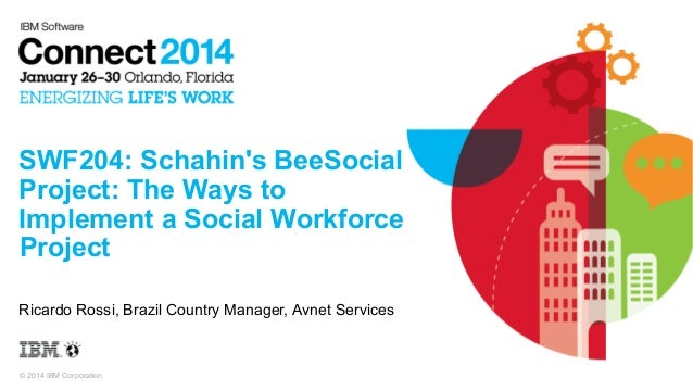 SWF204: Schahin's BeeSocial Project: The Ways to Implement a Social Workforce Project Ricardo Rossi, Brazil Country Manage...