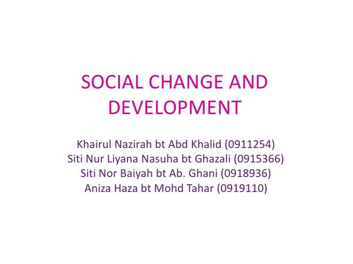 essay on social change and modernization