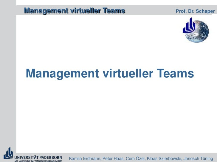 Management virtueller Teams<br />