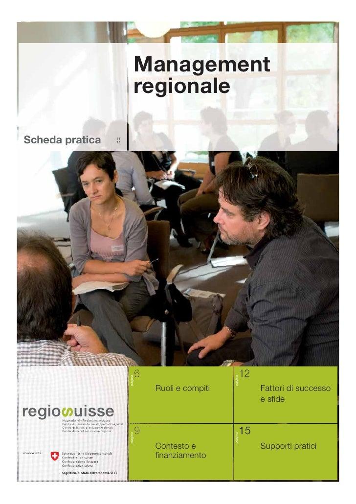 Scheda pratica - Management regionale