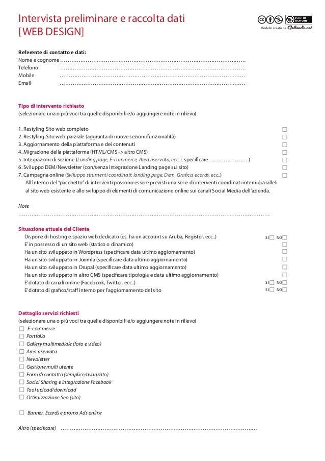 Modello preventivo web design scheda preliminare - Contratto preliminare esempio ...