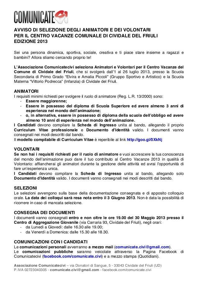 !Associazione Comunicatecivi – via Donatori di Sangue, 5 - 33043 Cividale del Friuli (UD)P.IVA 02723040305 - comunicate.ci...