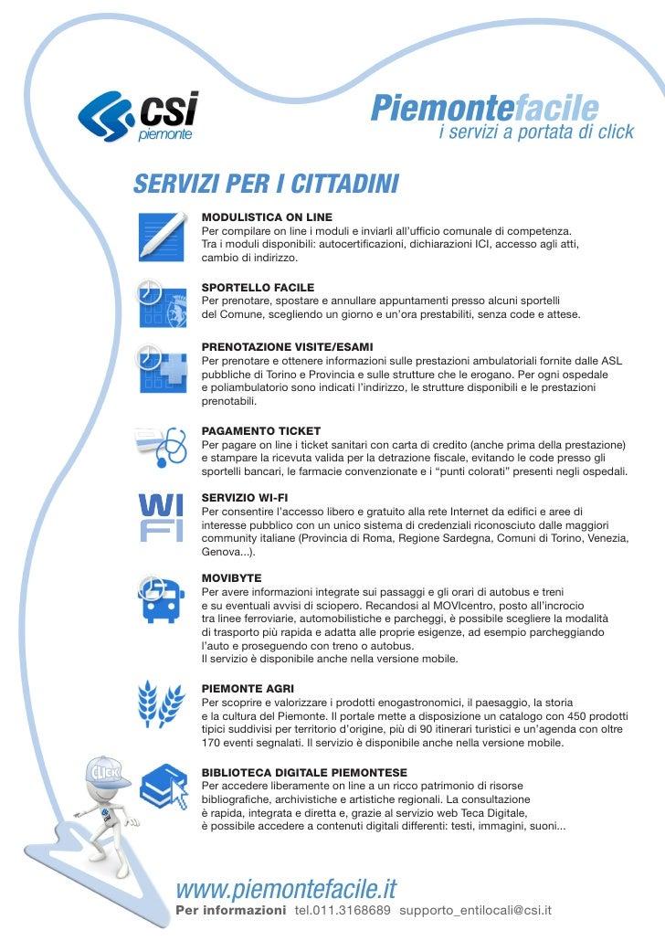 PiemonteFacile, i servizi a portata di click