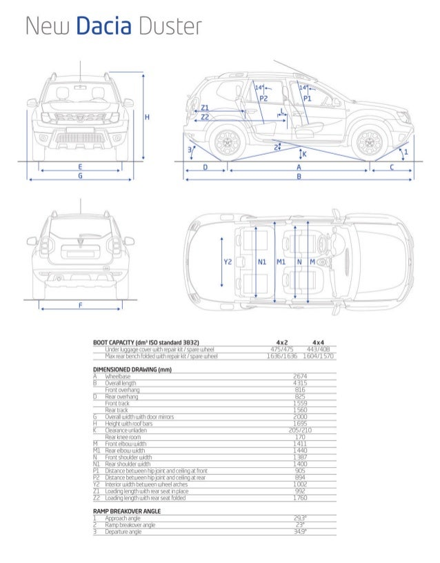 TECHNICAL SPECIFICATIONS New Dacia Duster PETROL EURO 5 VERSION  Mine type Engine air supply  DIESEL  PETROL / LPG  TCe 12...