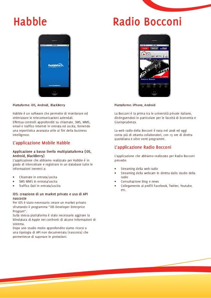 Portfolio Progetti Mobile Omnia Group