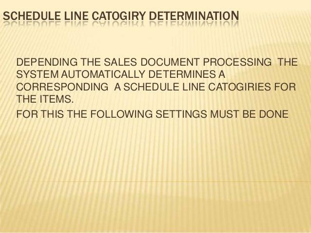 Schedule line catogiry determination