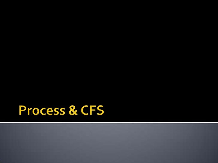 Linux Process & CF scheduling