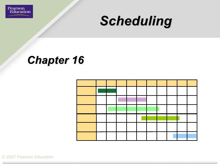 Scheduling Chapter 16