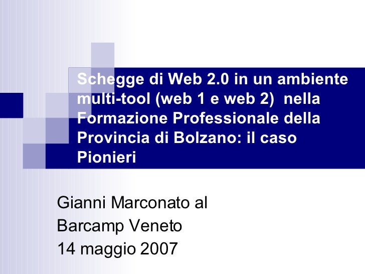 Schegge di web 2.0 nella formazione professionale