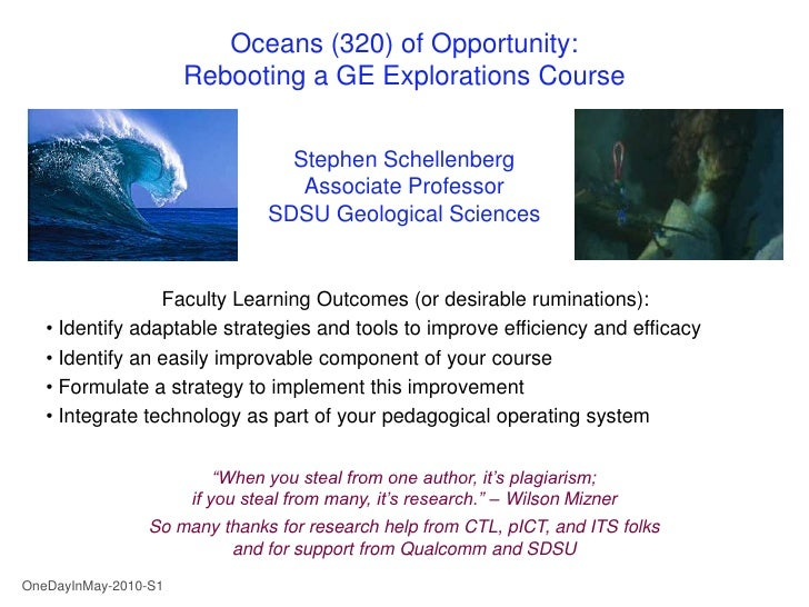 Title slide                           Oceans (320) of Opportunity:                       Rebooting a GE Explorations Cours...