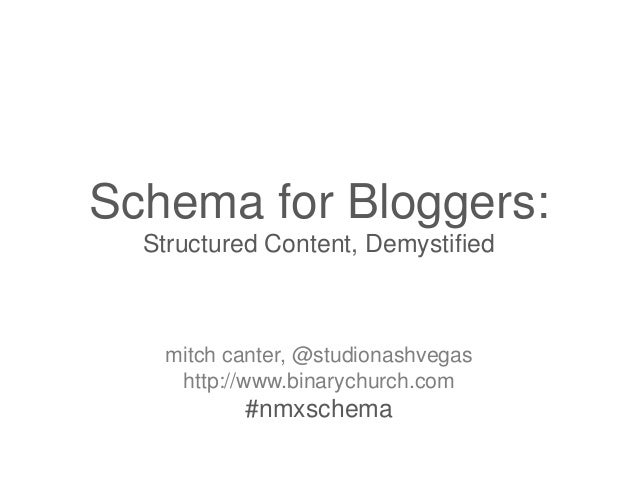 Schema for Bloggers: Structured Content, Demystified