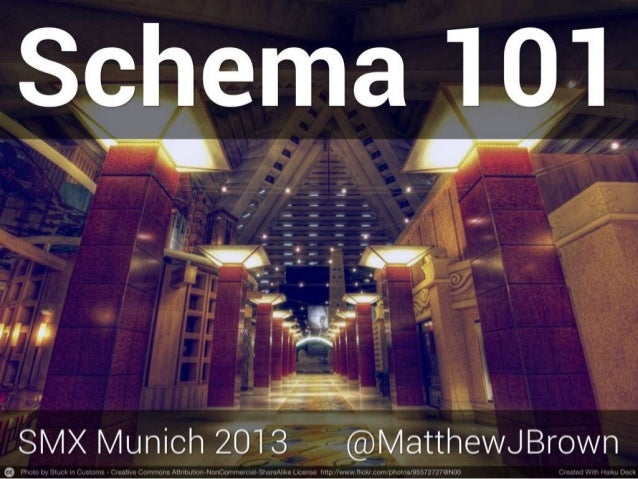 Schema and Open Graph 101 - SMX Munich