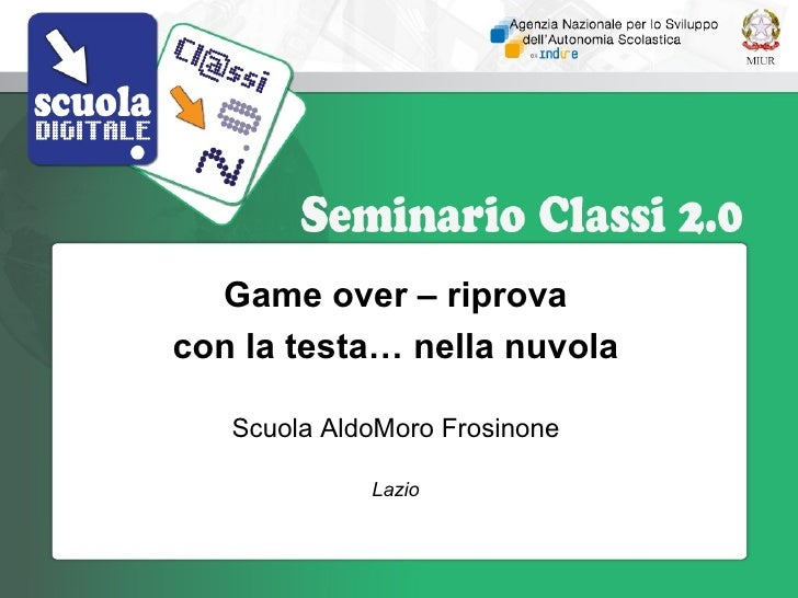 Gameover - progetto Cl@sse2.0