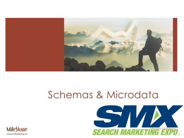 Milestone Confidential Schemas & Microdata