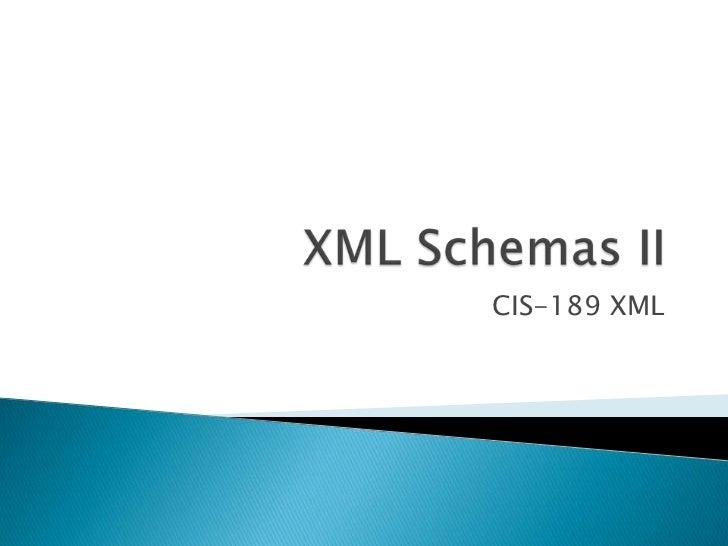 Schemas 2 - Restricting Values
