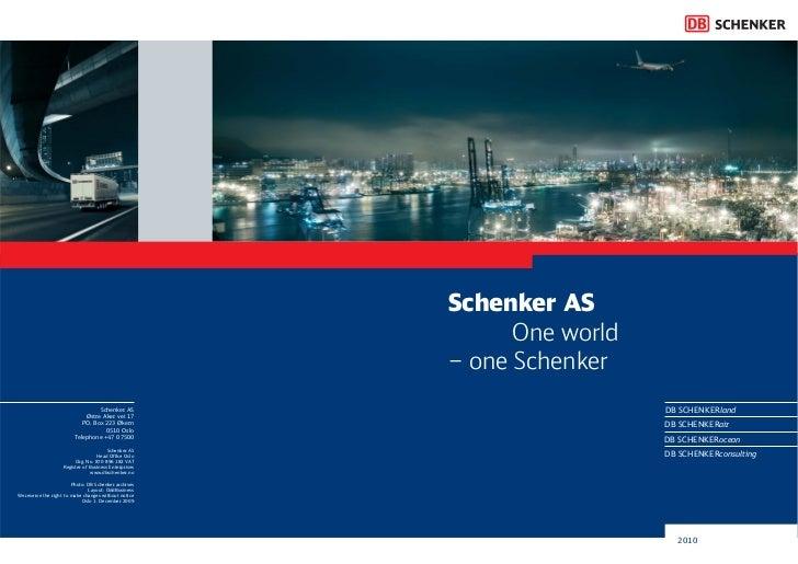 Schenker AS productinformation