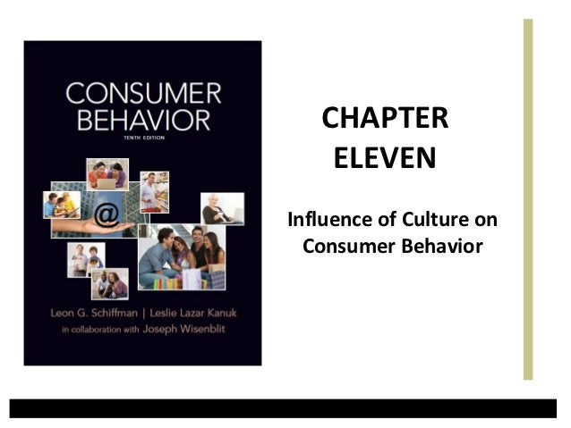 CHAPTER    ELEVENInfluence of Culture on  Consumer Behavior