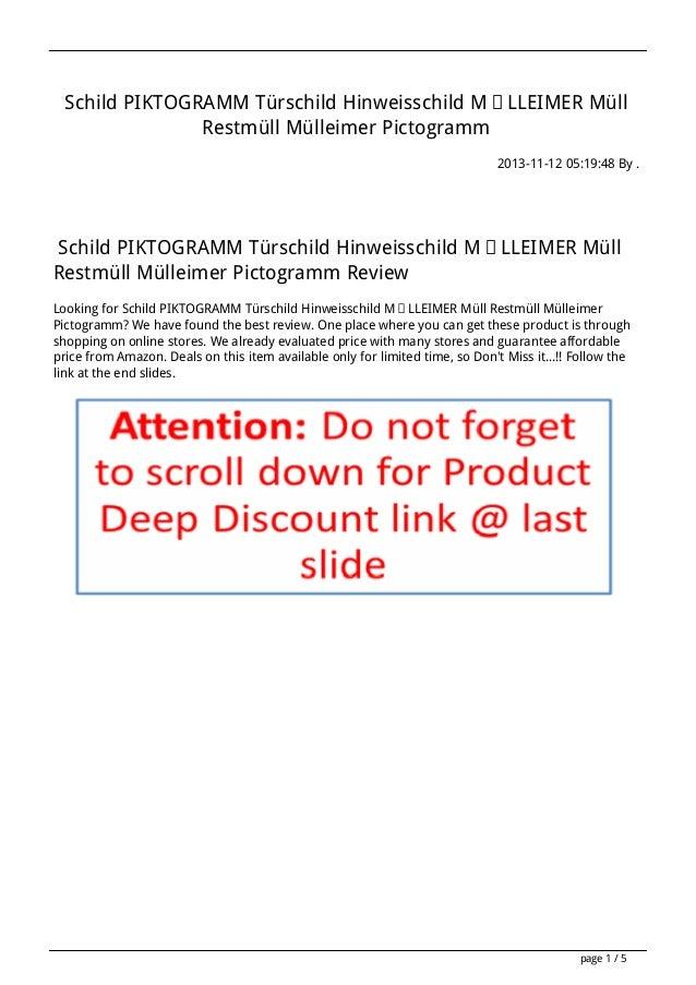 Schild PIKTOGRAMM Türschild Hinweisschild MÜLLEIMER Müll Restmüll Mülleimer Pictogramm 2013-11-12 05:19:48 By .  Schild PI...